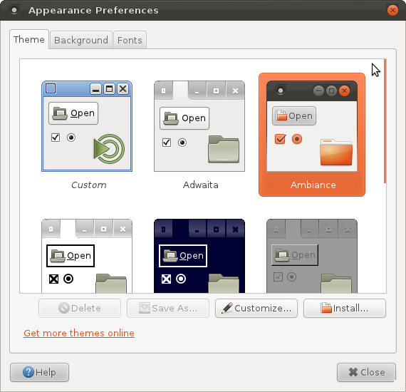 Screenshot-Appearance Preferences