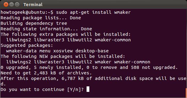 apt get install