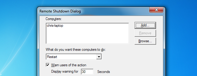 How to Remotely Shut Down or Restart Windows PCs