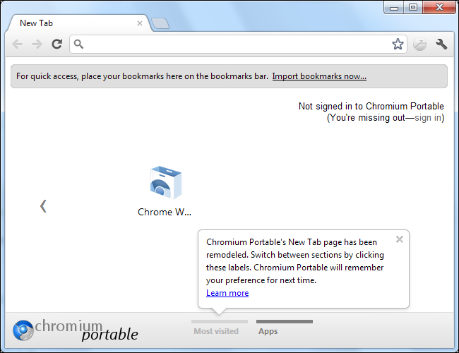 google chrome portable without installation