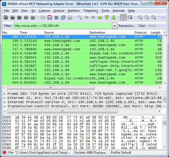 wireshark capture filter ip address