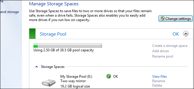storage spaces header