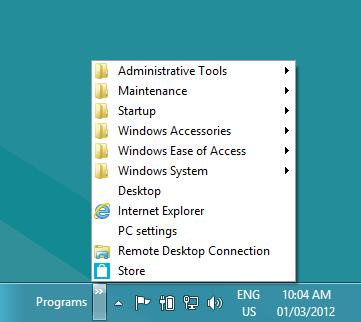 how to get to windows start menu folder