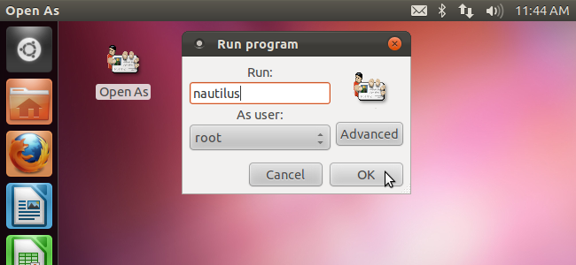 Create Shortcuts on the Desktop to Run Programs as Root in