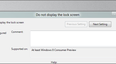 How to Disable the Lock Screen in Windows 8