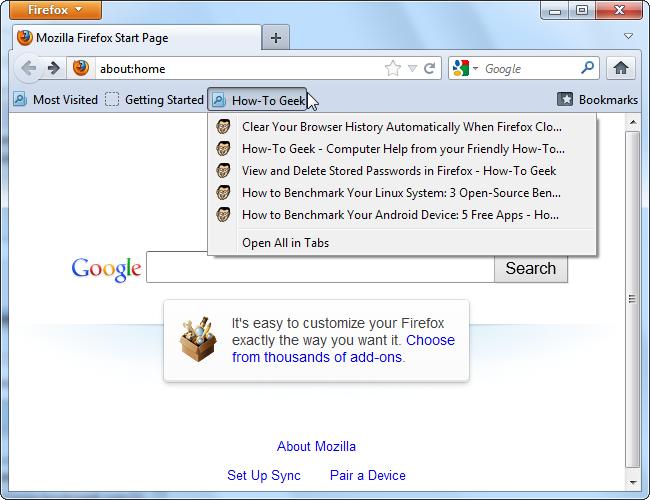How to Create Custom Smart Bookmarks Folders in Firefox