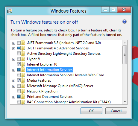 How to Install IIS on Windows 8 or Windows 10