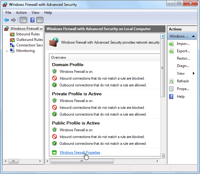 setting firewall exceptions in windows 10