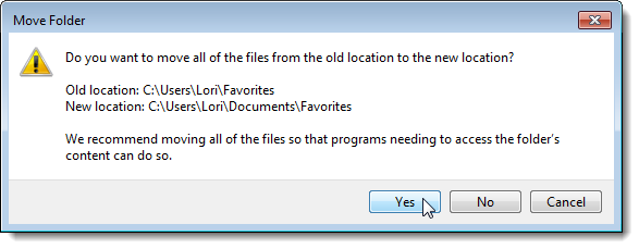 how to change move program files location