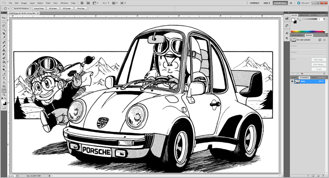 Line Drawing In Gimp : How to remove the background from a drawing or lineart
