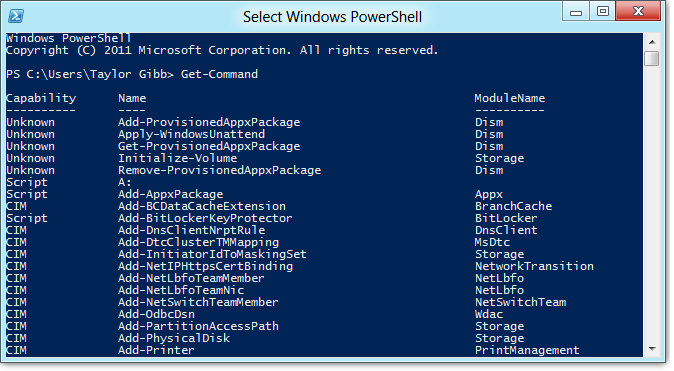 Choose option powershell