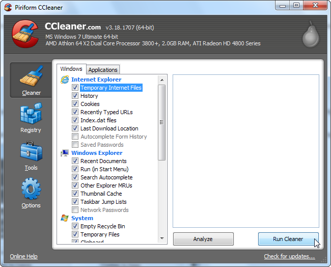 ccleaner free download for windows 7 ultimate