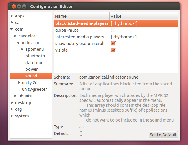 How to Remove Media Players From Ubuntu's Sound Menu & Add Your Own
