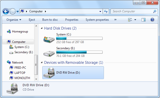 how to share cd dvd drives over the network on windows