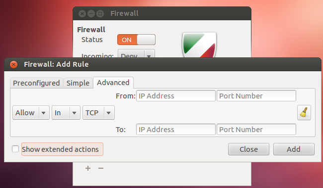 linux firewall on or off