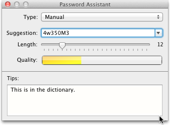 Generate a Strong Password using Mac OS X Lion's Built-in Utility