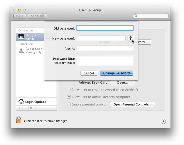 Generate a Strong Password using Mac OS X Lion's Built-in