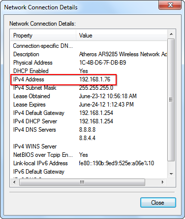 What is my ipv4