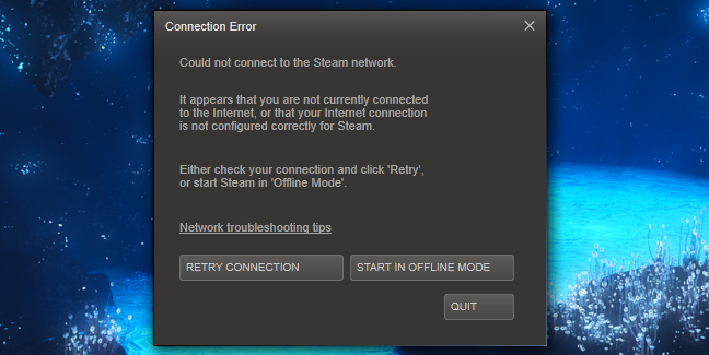 How to Make Steam's Offline Mode Work