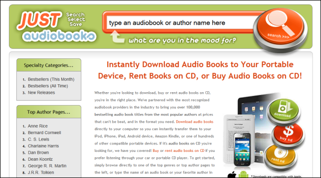 The Best Websites for Downloading, Renting, and Purchasing Audiobooks
