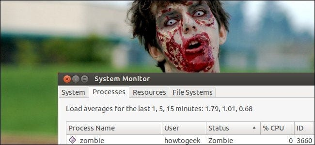 zombie processes on linux