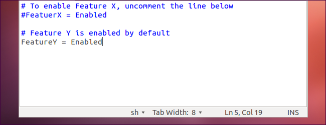 How to Comment Out and Uncomment Lines in a Configuration File