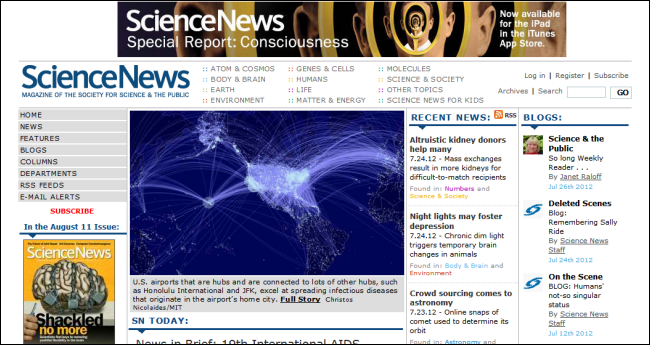 science scientific websites knowledge times york
