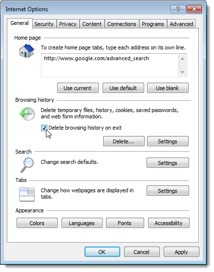 17_selecting_delete_browsing_history_on_exit