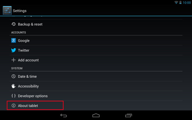 android jelly bean settings