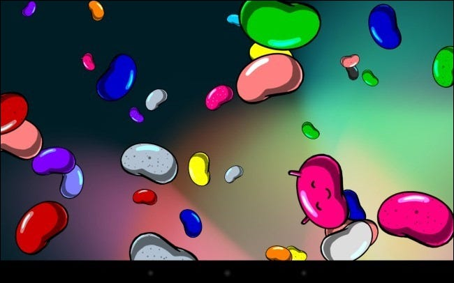 android floating jelly beans