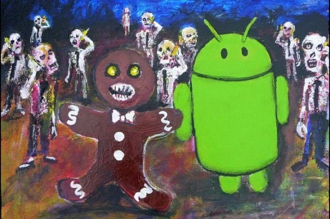 android gingerbread zombie easter egg