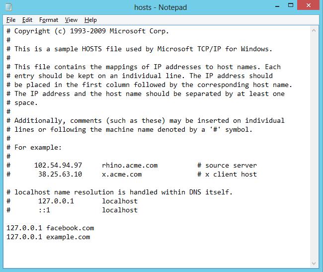 How to Block Websites in Windows 8's Hosts File