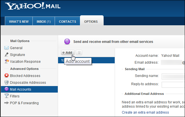 rogers yahoo how to add email address