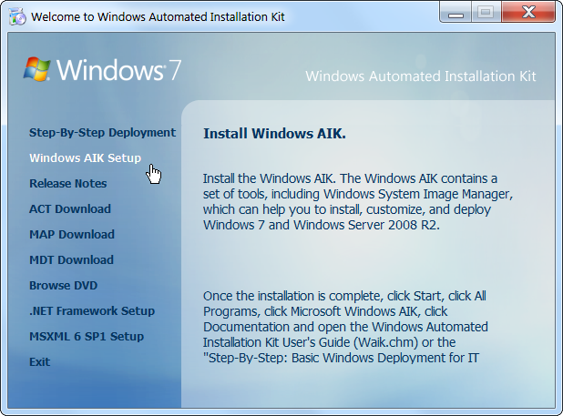 How to create windows 7 installation disc from pre-prepared source.