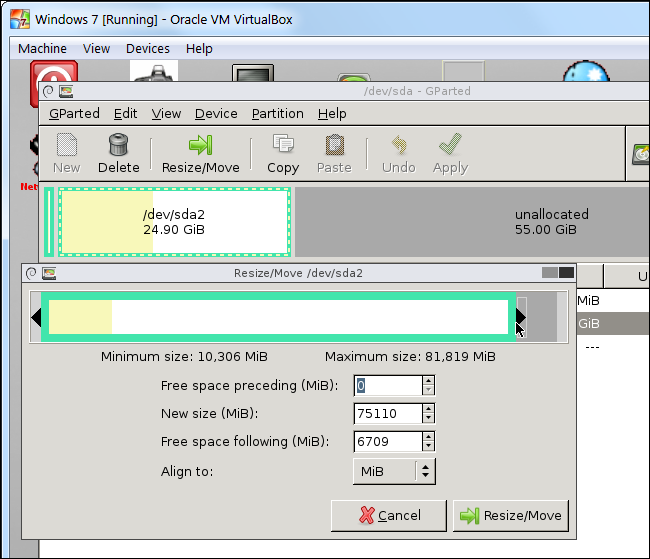 How To Enlarge a Virtual Machine's Disk in VirtualBox or VMware
