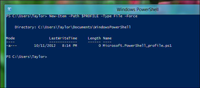 How to Create a PowerShell Profile