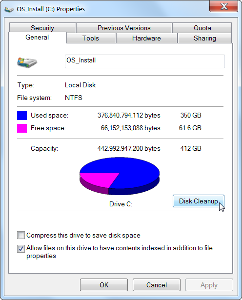 Free Space On Hard Drive