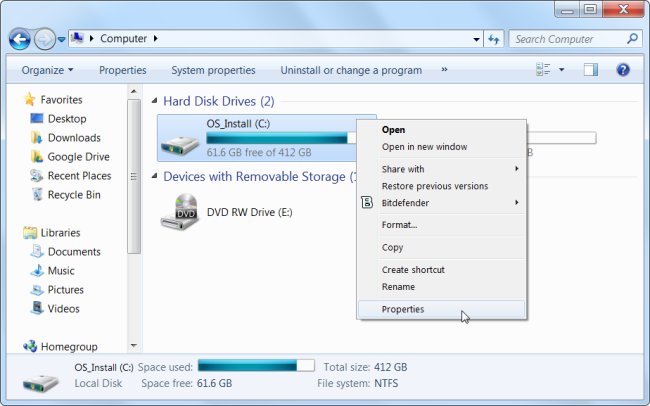 free disk space- speed up windows make windows faster