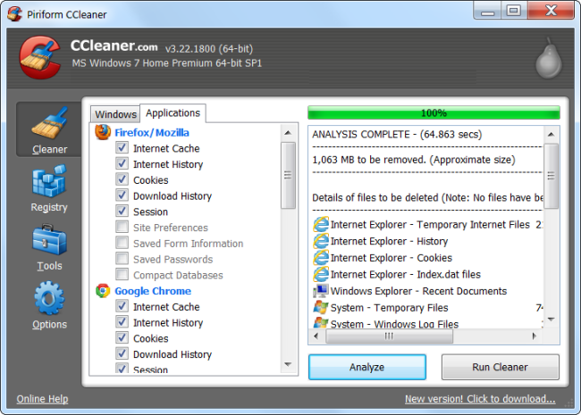 7 ways to free up hard disk space on windowsyou can download here ccleaner cleans junk files from a variety of third party programs and also cleans up windows files that disk cleanup won\u0027t touch