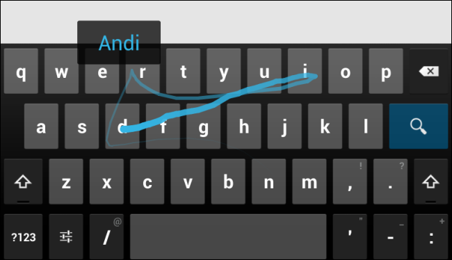android-gesture-typing