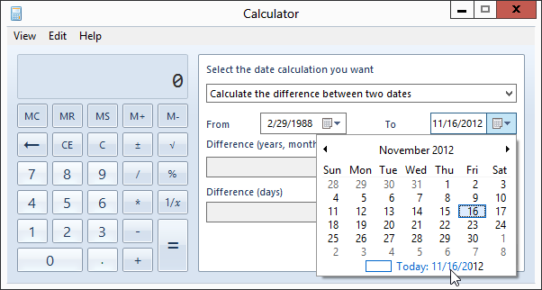 How to Perform Date Calculations in Windows Calculator
