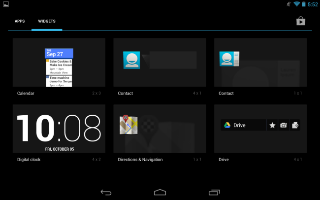 android-widgets-menu