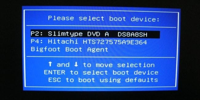 Image result for boot options screen
