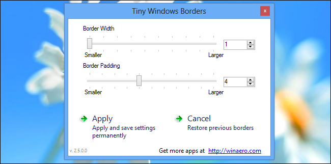 How to Change the Window Border Size in Windows 8