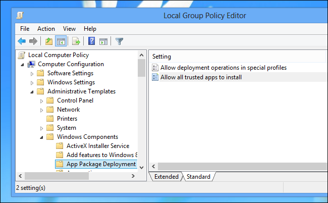 sideloading-group-policy-key