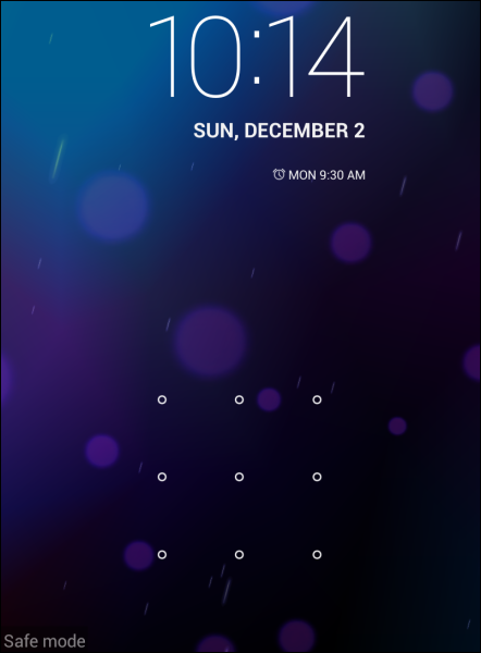 android-safe-mode-lock-screen