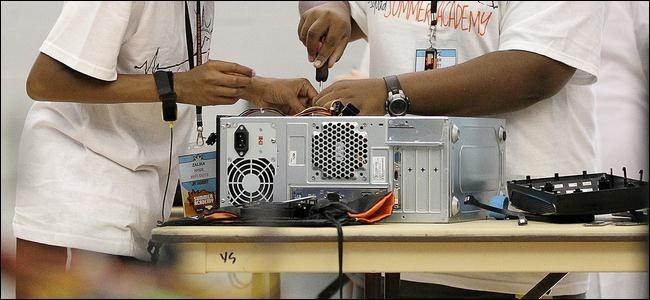 assembling desktop computer