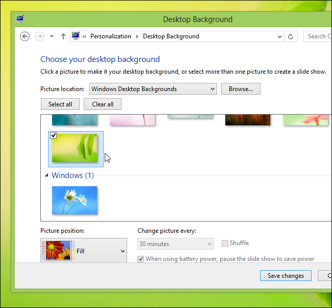 how to change country in windows 8