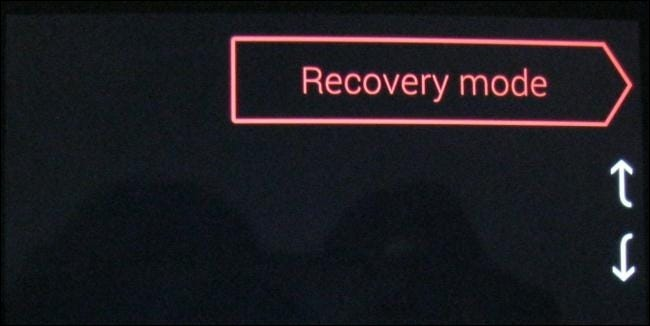 recovery mode option