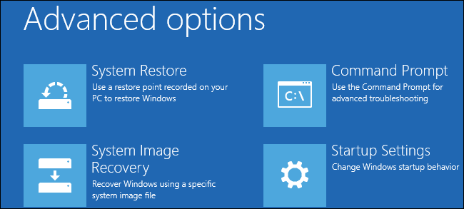 windows 8 and 10s advanced startup tools function differently than the tools on previous versions of windows if your windows 8 or 10 system cant boot